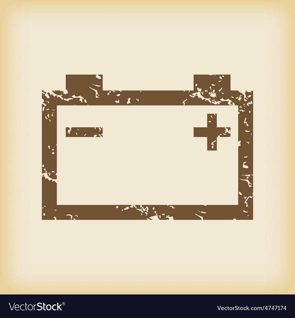 Grungy accumulator icon vector | Price: 1 Credit (USD $1)