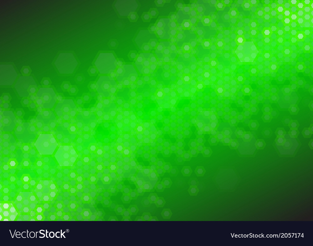 Hex synergy digital green vector | Price: 1 Credit (USD $1)