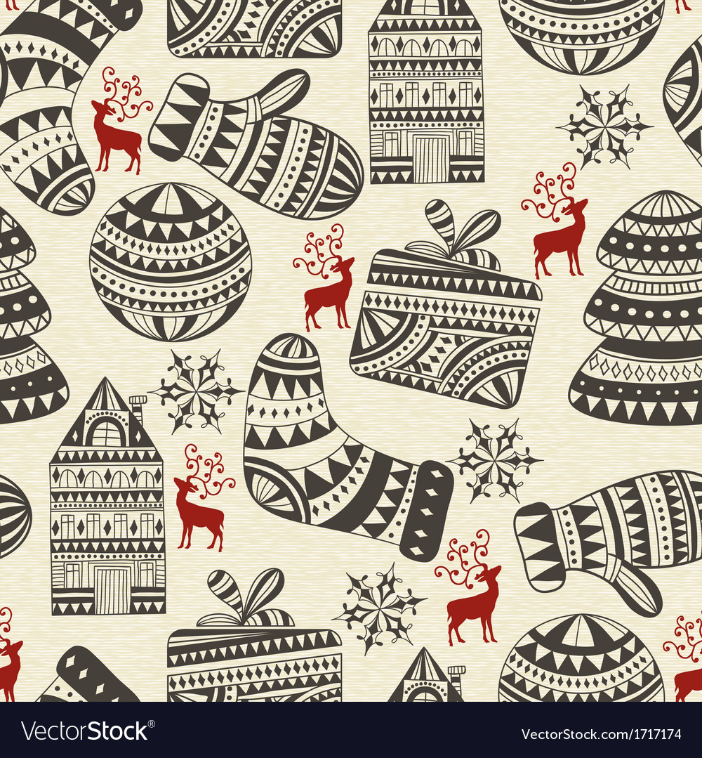 Holiday winter patter vector