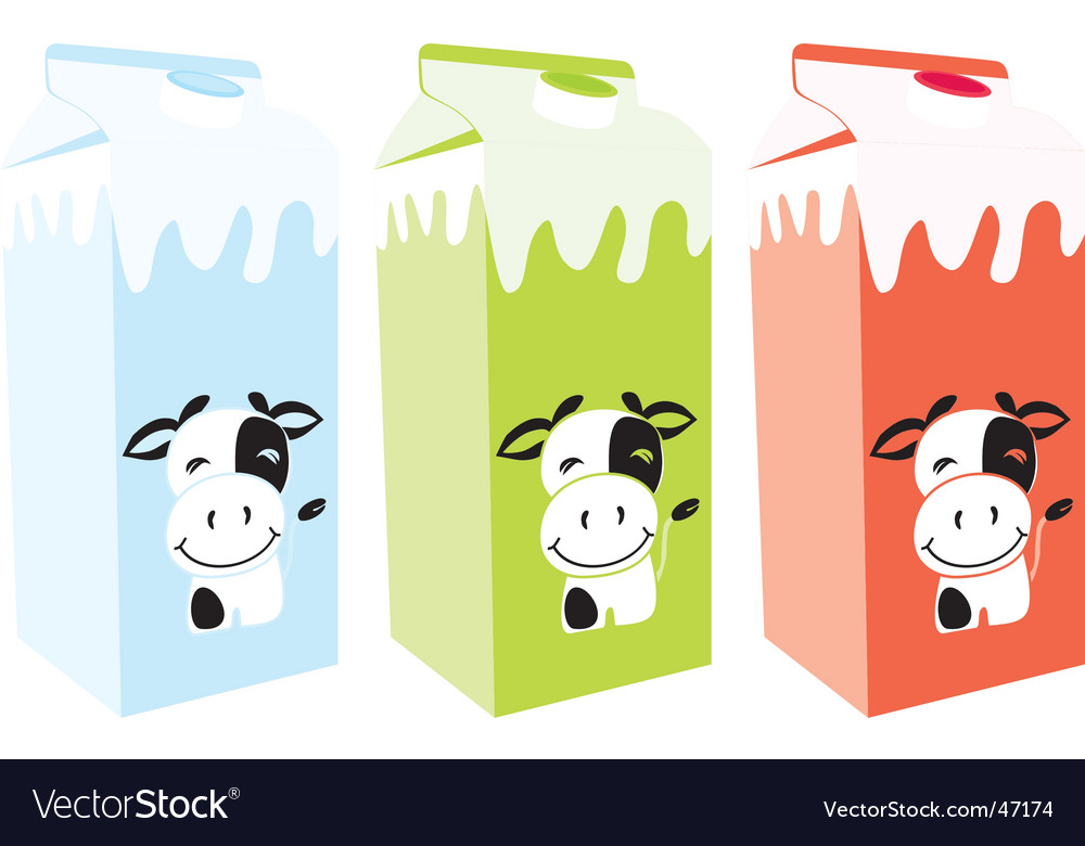 Milk carton boxes vector | Price: 1 Credit (USD $1)
