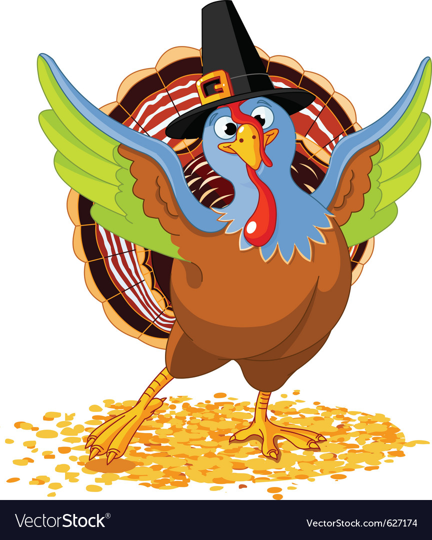 Of happy thanksgiving turkey vector | Price: 1 Credit (USD $1)