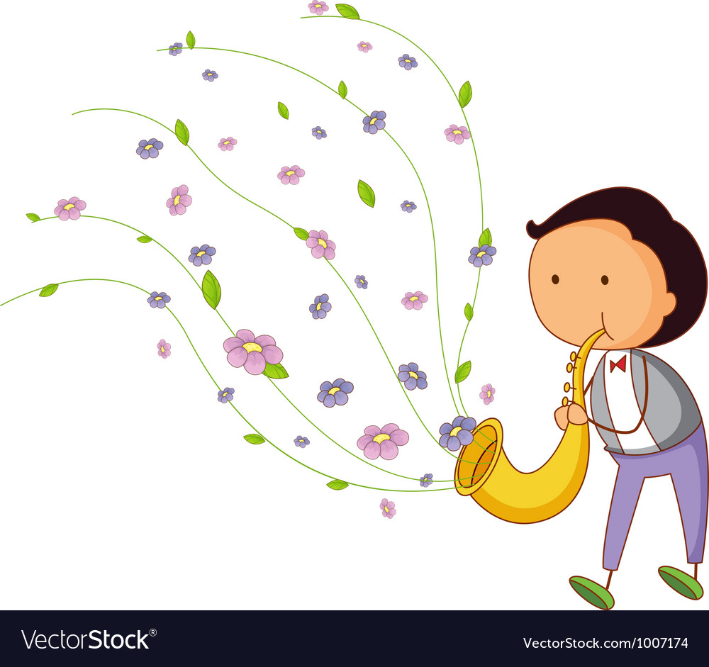 Saxophone player vector | Price: 3 Credit (USD $3)