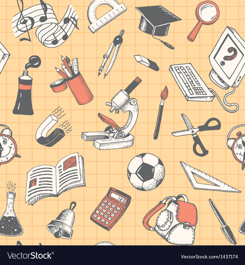 School and education seamless pattern vector | Price: 1 Credit (USD $1)