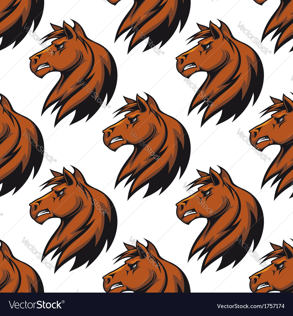 Seamless pattern with majestic stallion vector | Price: 1 Credit (USD $1)