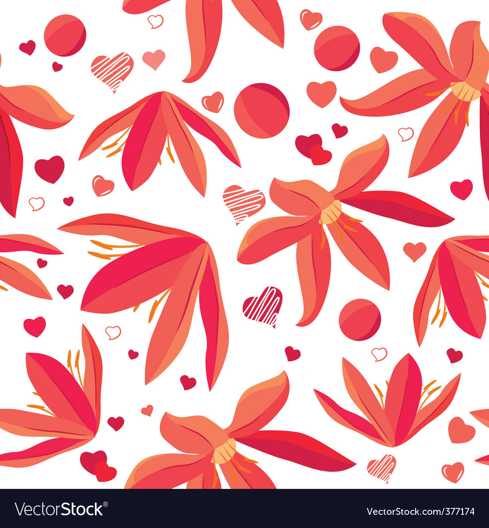 Seamless pattern with spring flowers vector | Price: 1 Credit (USD $1)