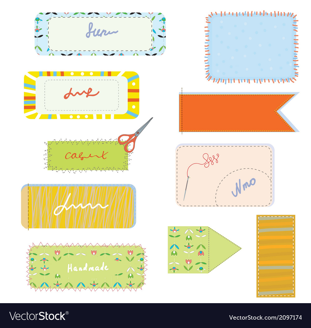Sewing and needlwork set for handmade vector | Price: 1 Credit (USD $1)