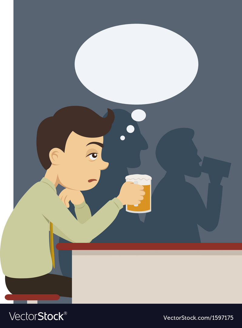 A man with beer at pub vector | Price: 1 Credit (USD $1)