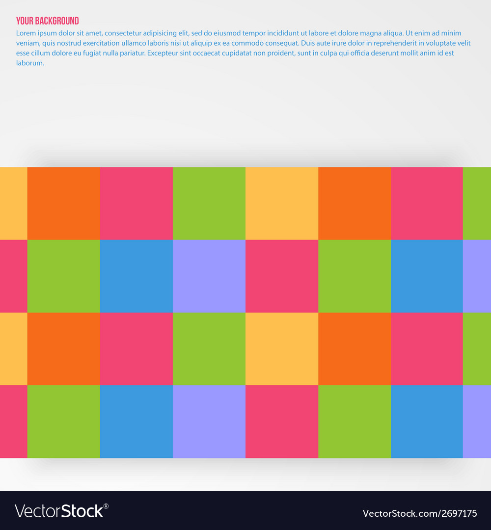 Abstract aquares and color design vector | Price: 1 Credit (USD $1)