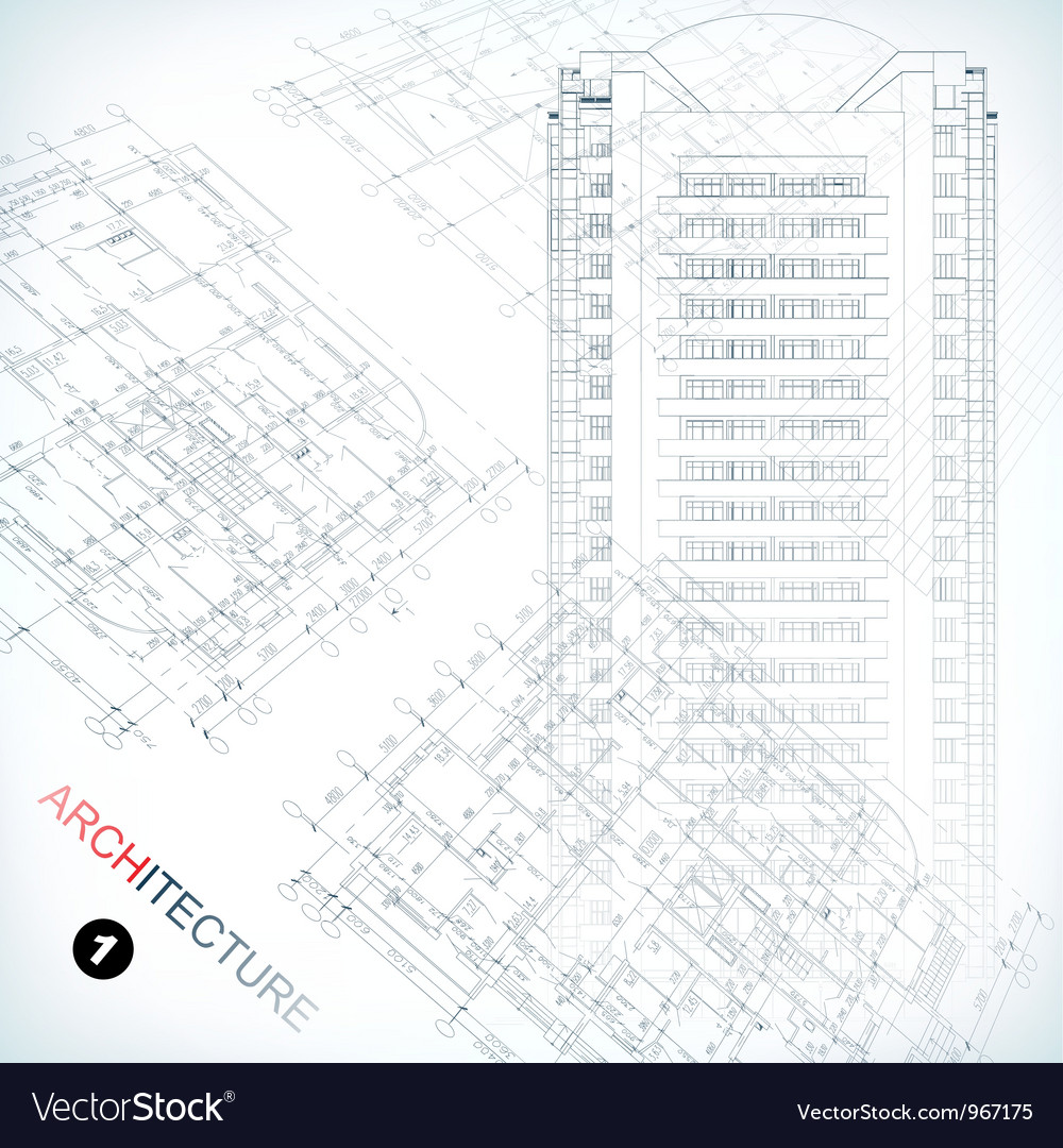 Architecture plans vector | Price: 3 Credit (USD $3)