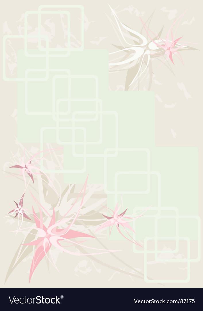 Background flower vintage vector | Price: 1 Credit (USD $1)