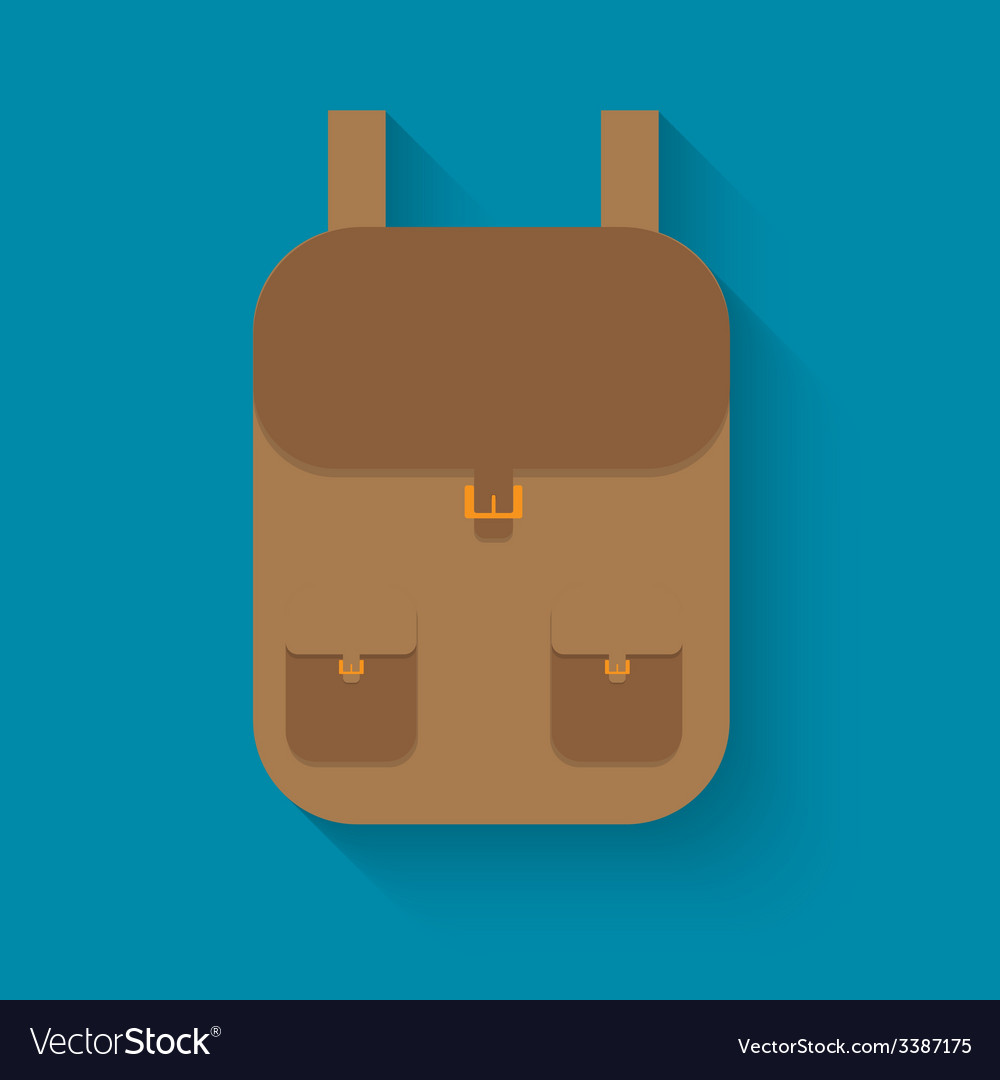 Backpack in style flat vector | Price: 1 Credit (USD $1)