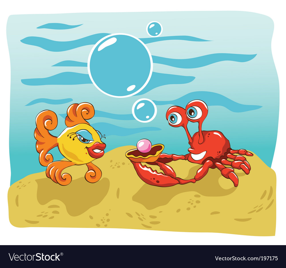 Fish and crab vector | Price: 3 Credit (USD $3)