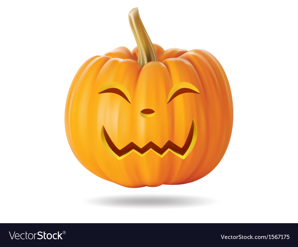 Happy pumpkin vector | Price: 1 Credit (USD $1)