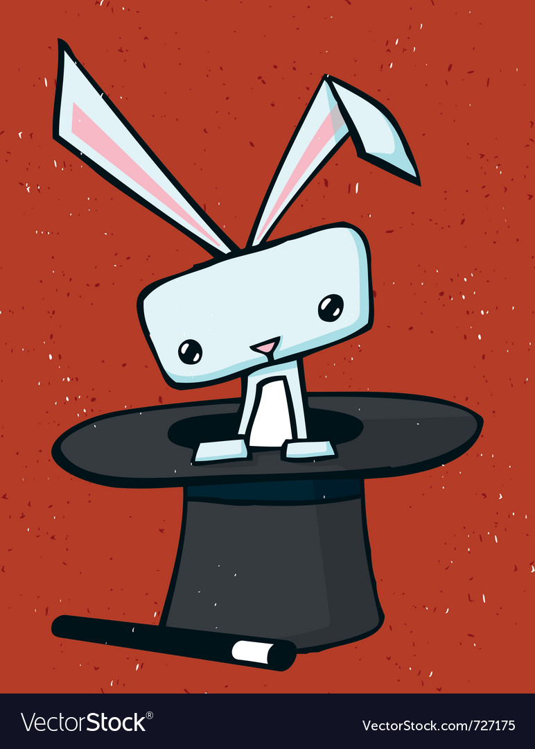 Magic rabbit drawing vector   Price: 1 Credit (USD $1)
