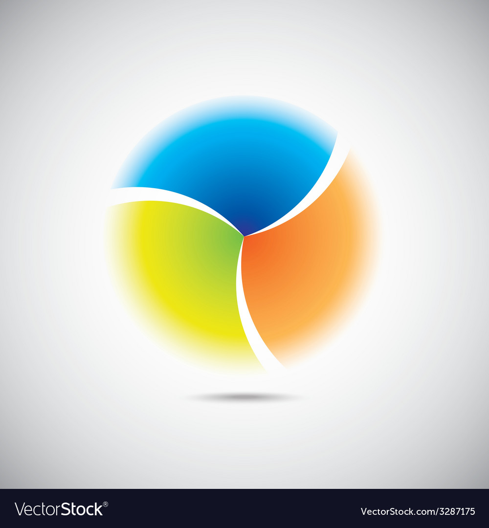Modern colorful geometrical circle vector | Price: 1 Credit (USD $1)