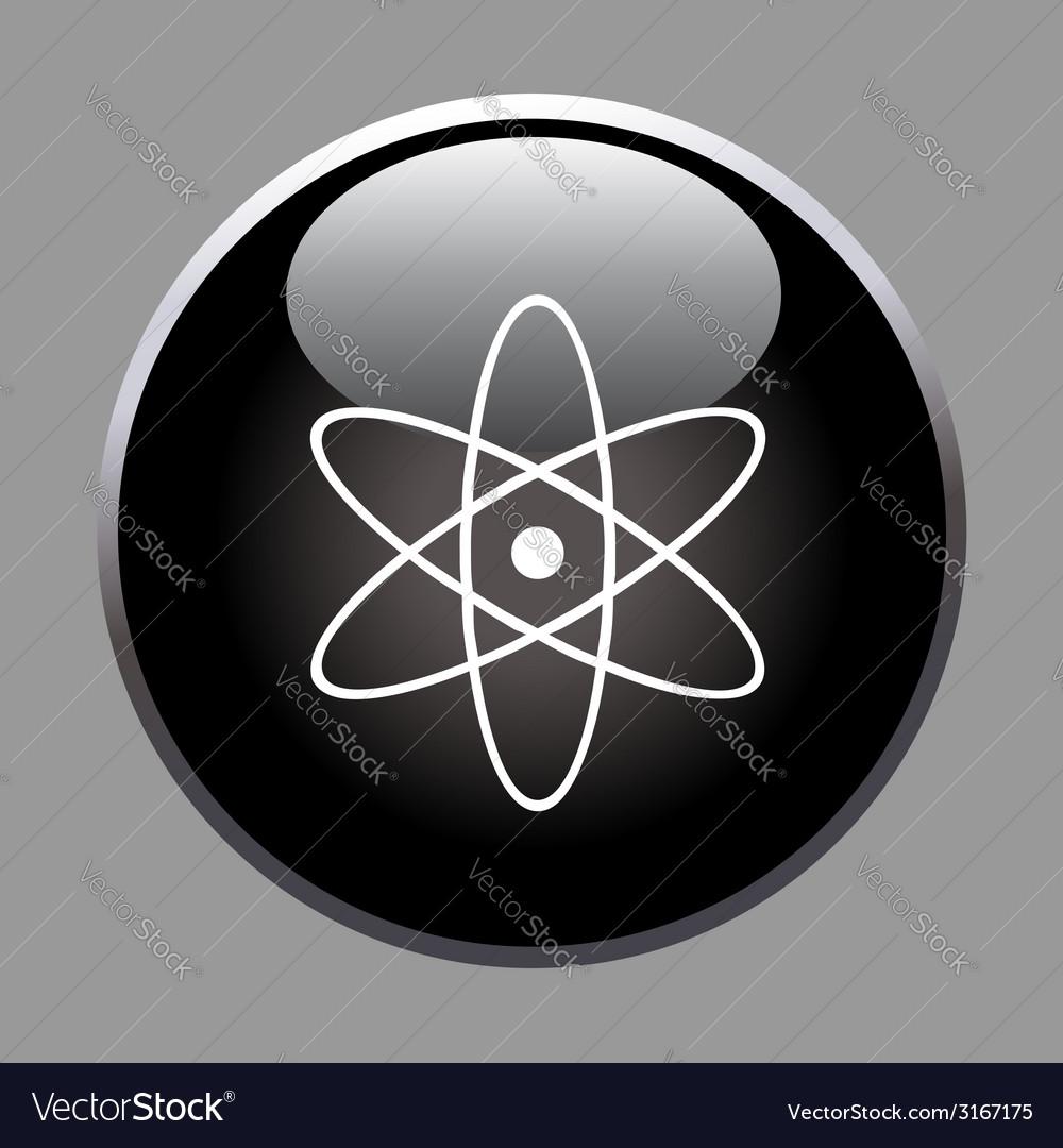 Molecule icon on black button vector | Price: 1 Credit (USD $1)