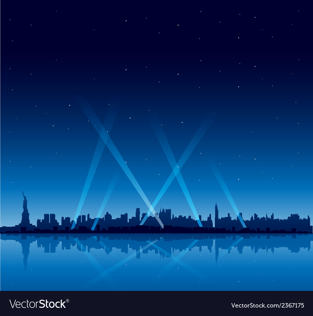 New york city at night copyspace background vector | Price: 1 Credit (USD $1)