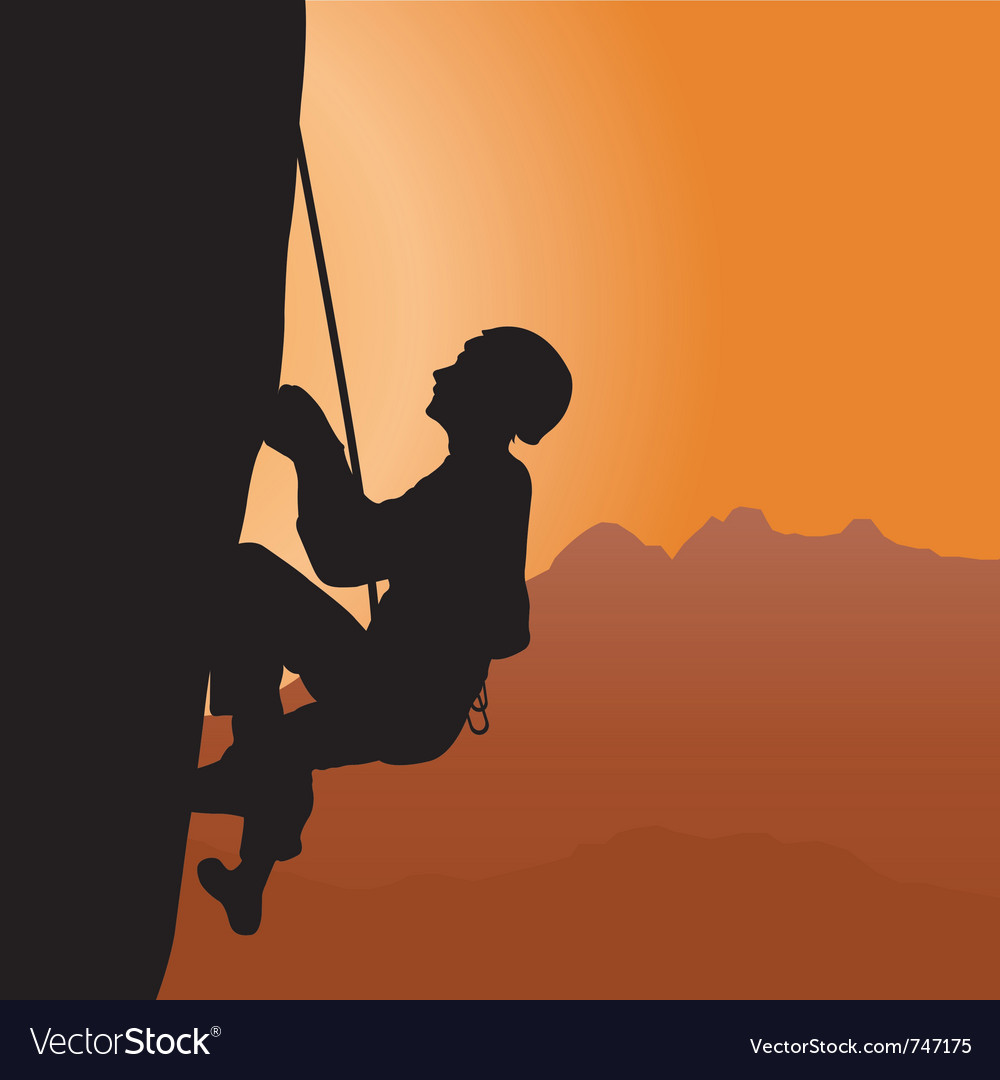Rock climbing vector | Price: 1 Credit (USD $1)