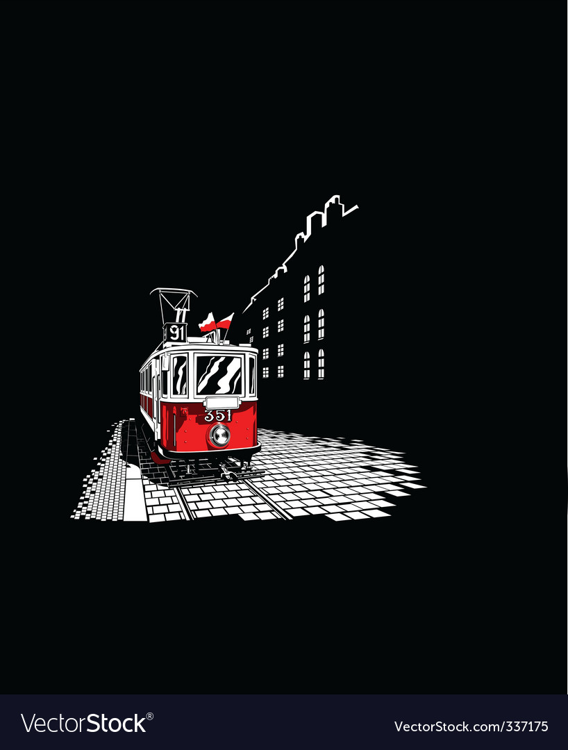 Tram vector | Price: 1 Credit (USD $1)