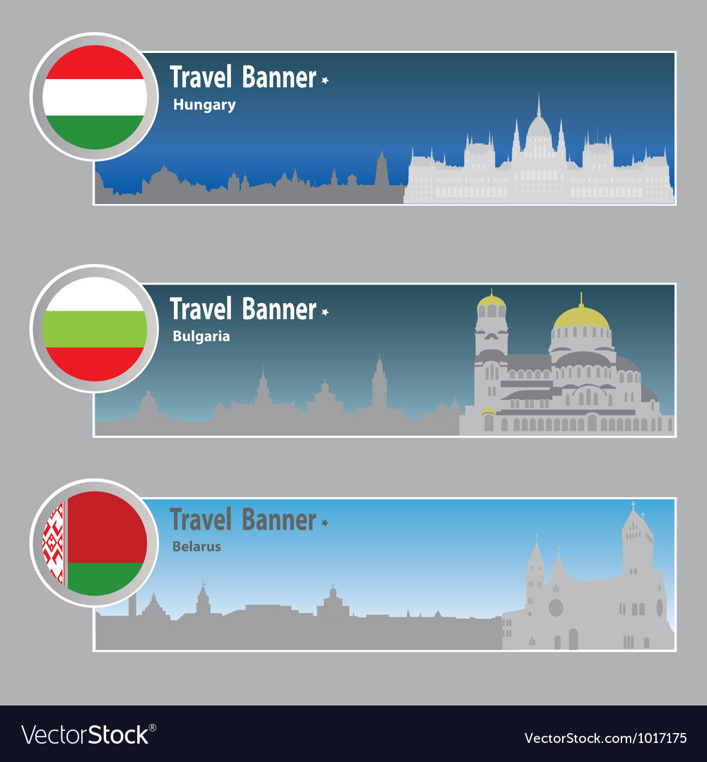 Travel banners vector | Price: 1 Credit (USD $1)