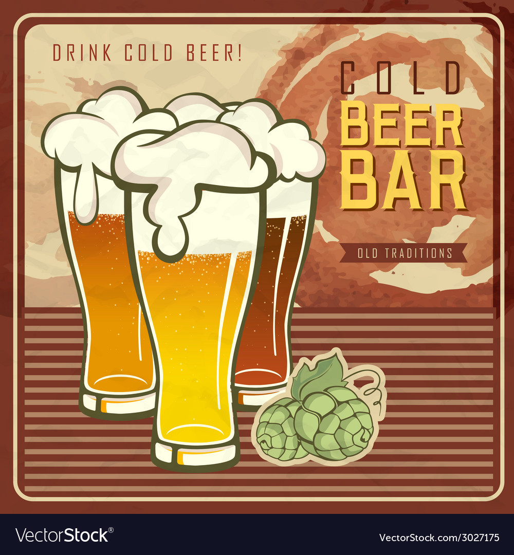 Vintage beer or brewery poster vector | Price: 1 Credit (USD $1)