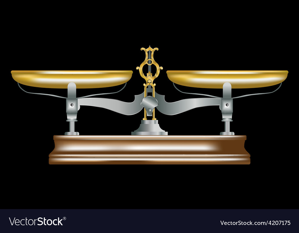 Vintage metal table scales vector | Price: 1 Credit (USD $1)