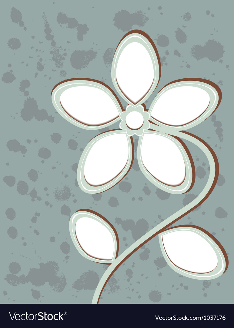 Abstract flower with space for text vector | Price: 1 Credit (USD $1)