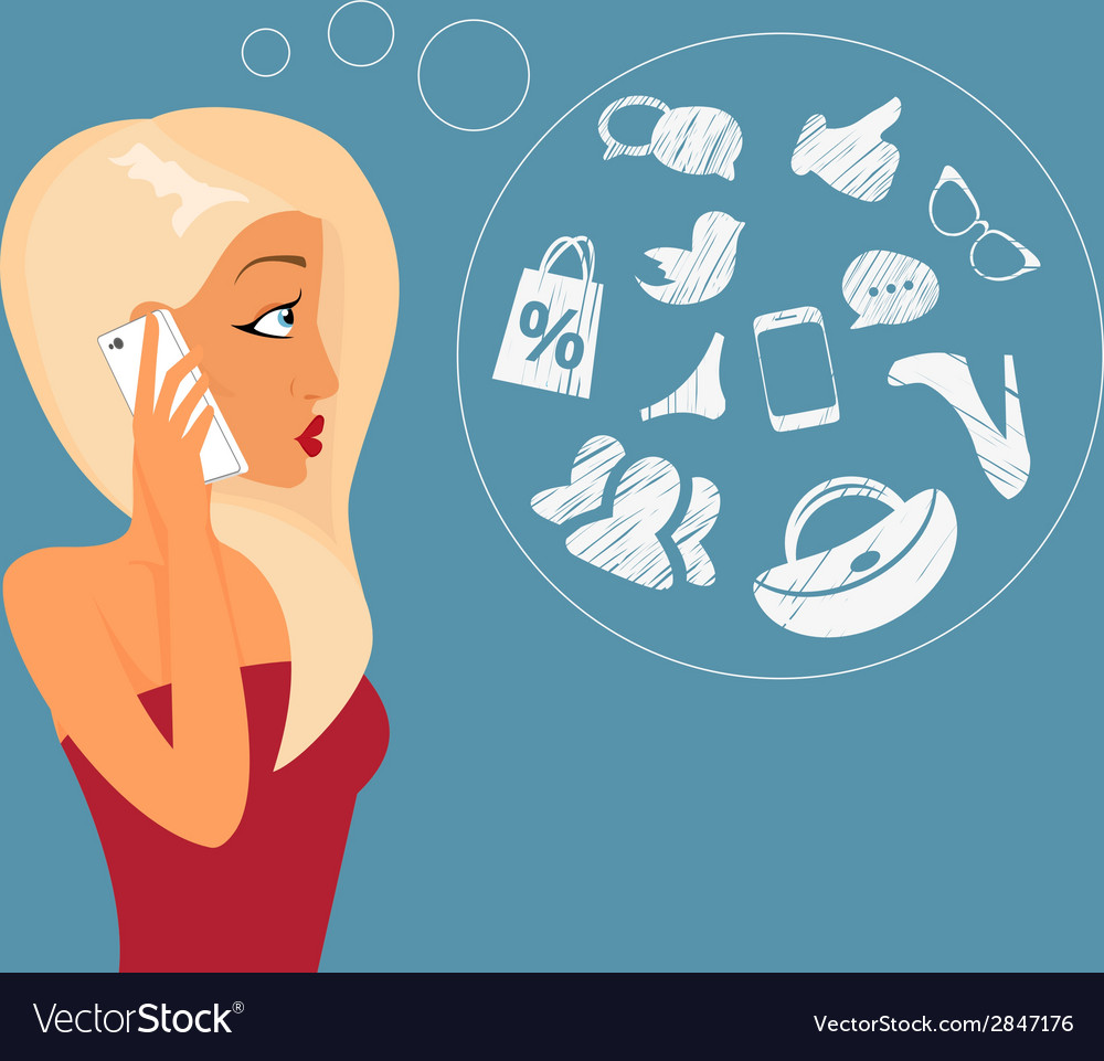 Blond sensual girl vector | Price: 1 Credit (USD $1)