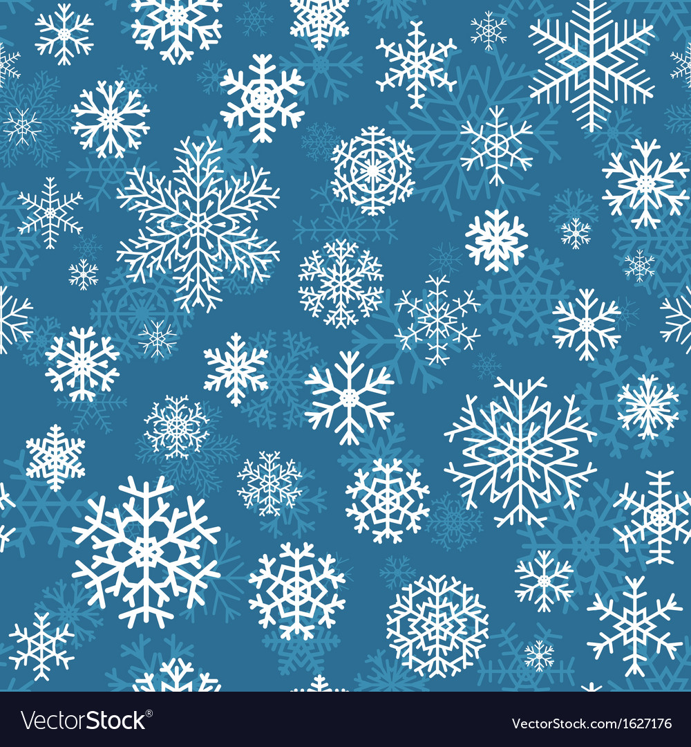Christmas seamless pattern from snowflakes vector | Price: 1 Credit (USD $1)