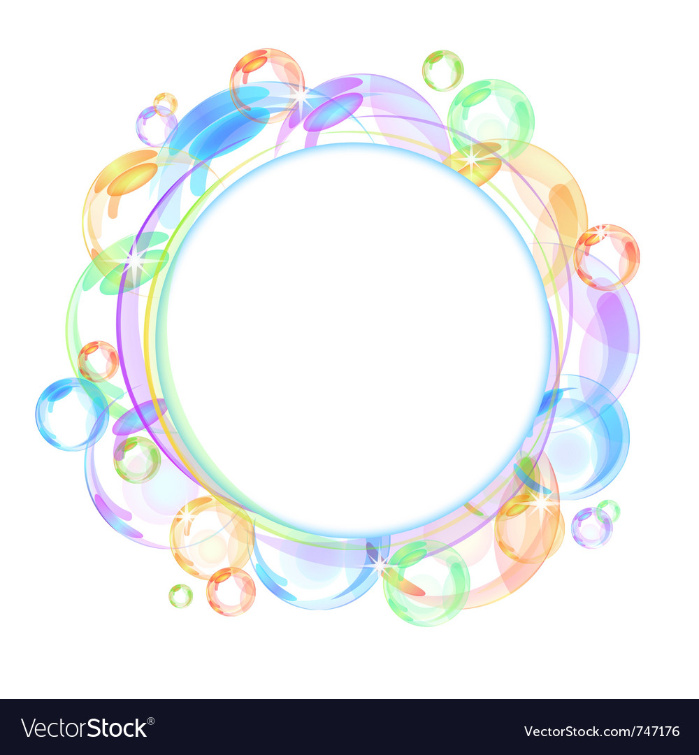 Colorful bubble background vector | Price: 1 Credit (USD $1)