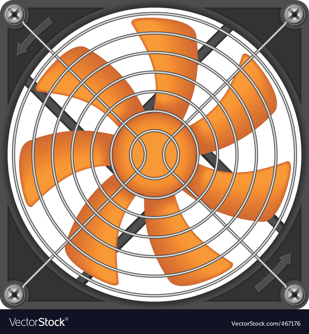 Computer cooler vector | Price: 3 Credit (USD $3)