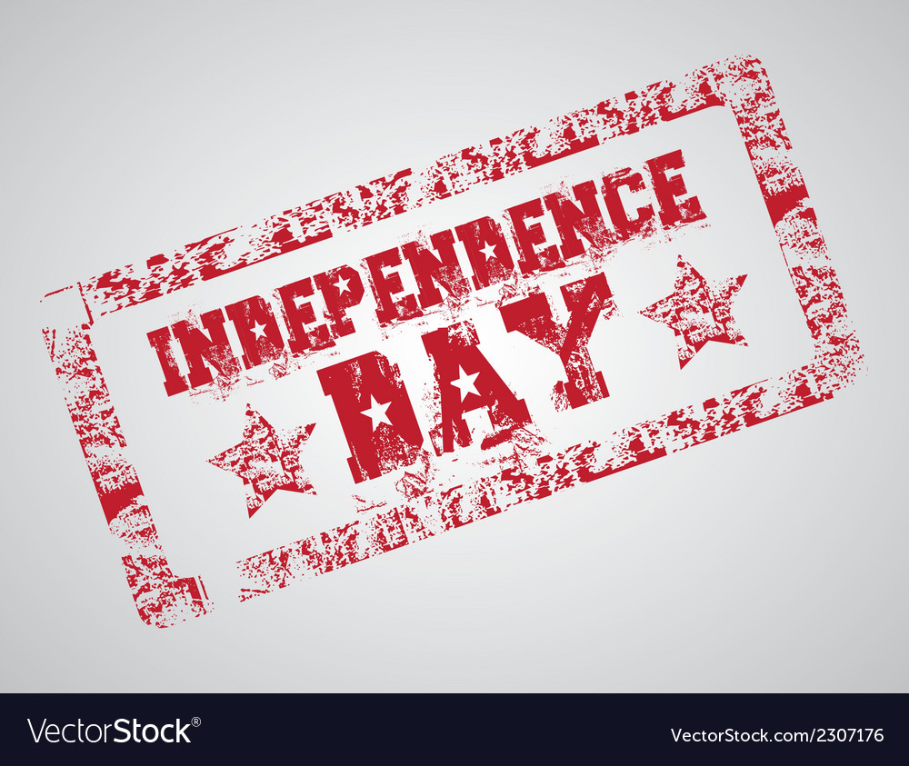 The day of united states independence july 4 vector | Price: 1 Credit (USD $1)