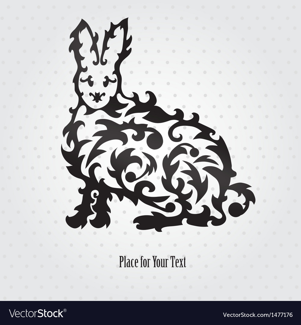 Decorative rabbit vector | Price: 1 Credit (USD $1)