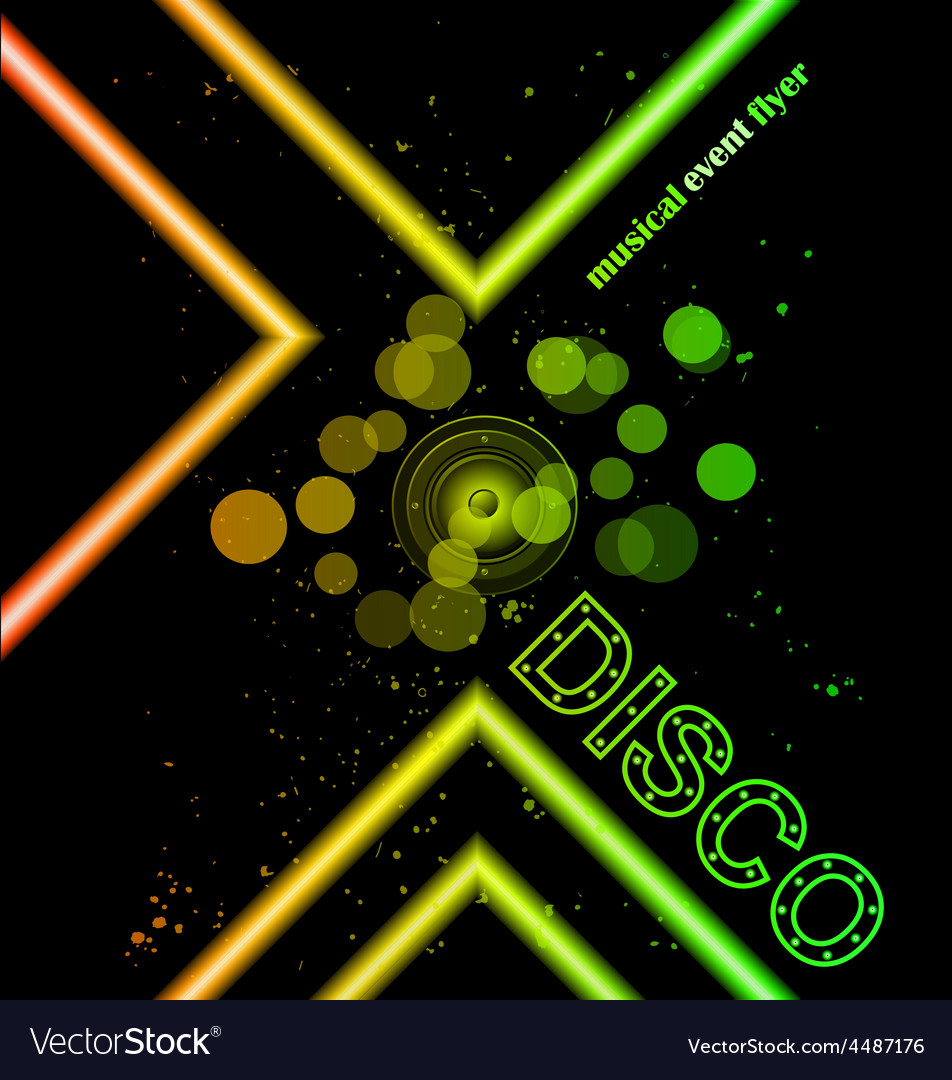 Disco club flyer vector | Price: 1 Credit (USD $1)
