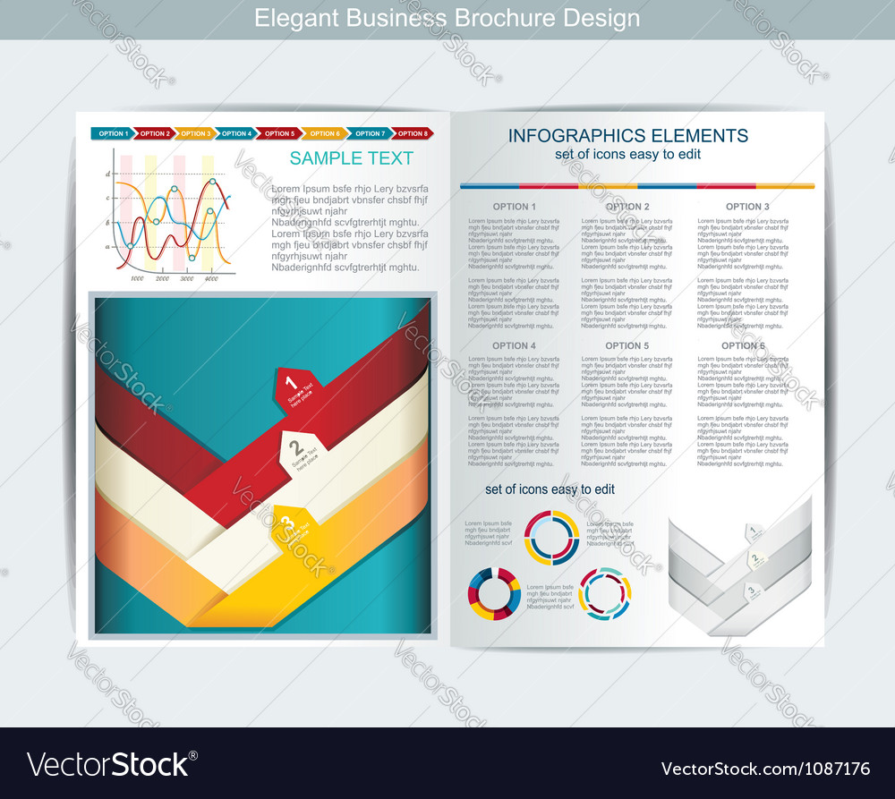 Elegant business brochure design vector | Price: 1 Credit (USD $1)
