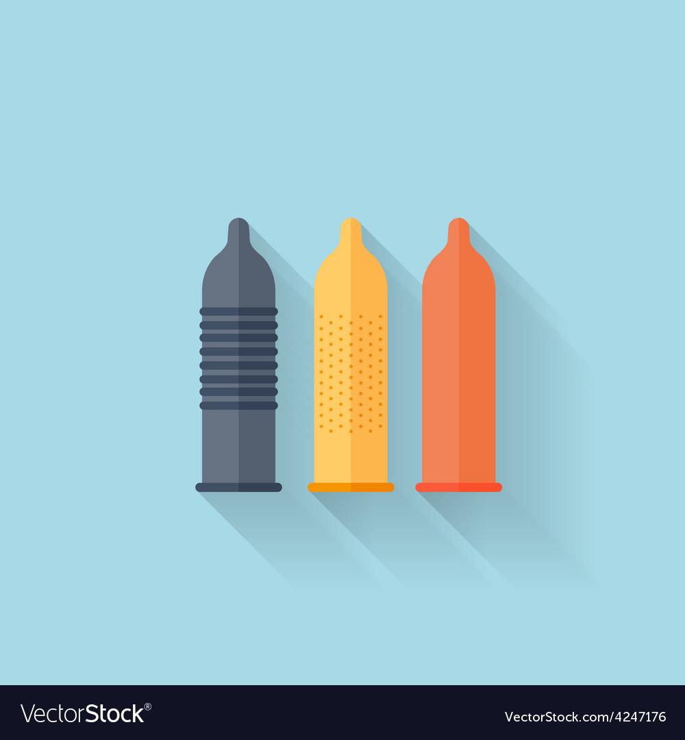 Flat web internet icon colored condoms vector | Price: 1 Credit (USD $1)
