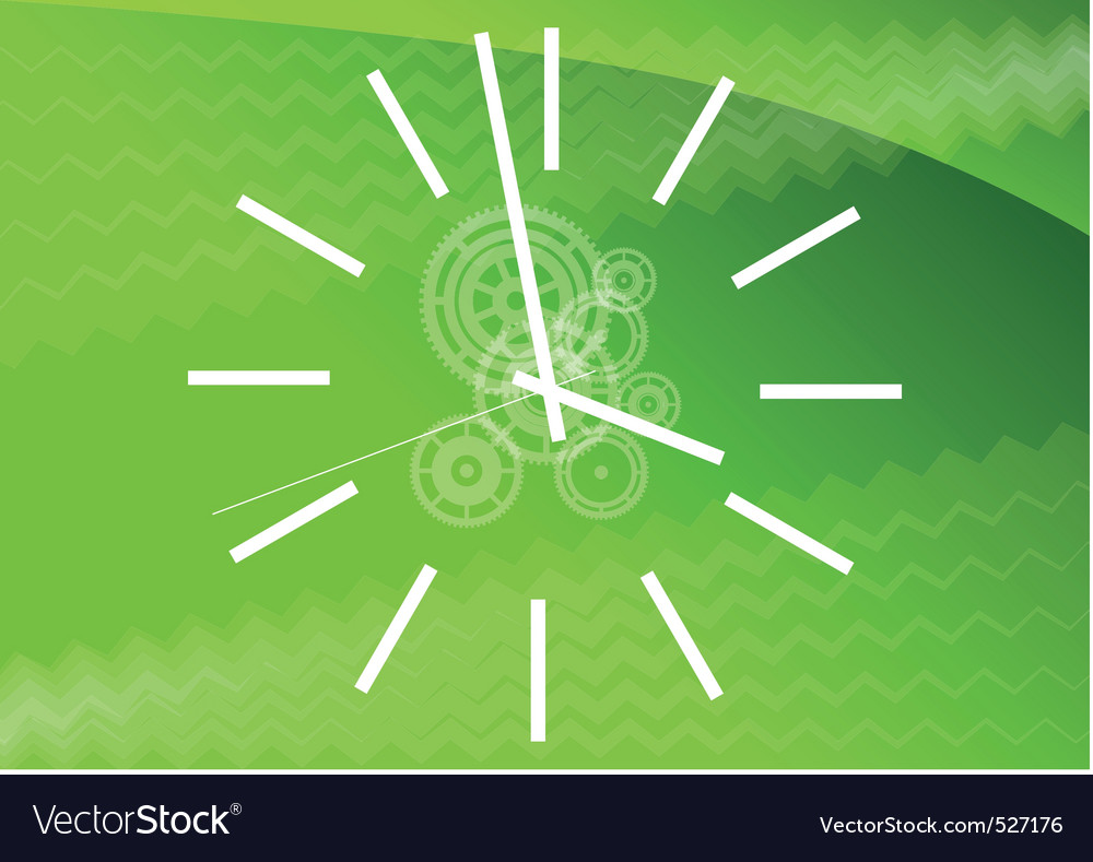 Green watch vector | Price: 1 Credit (USD $1)