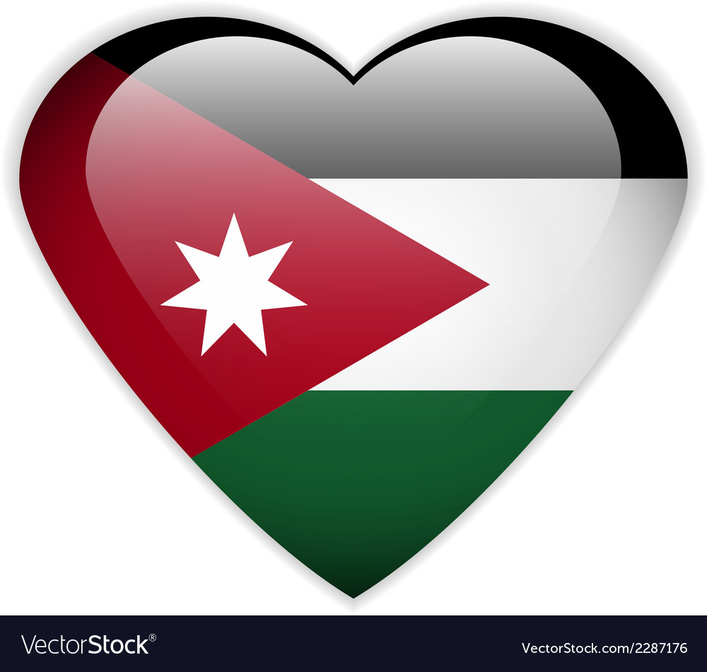 Jordan flag button vector | Price: 1 Credit (USD $1)