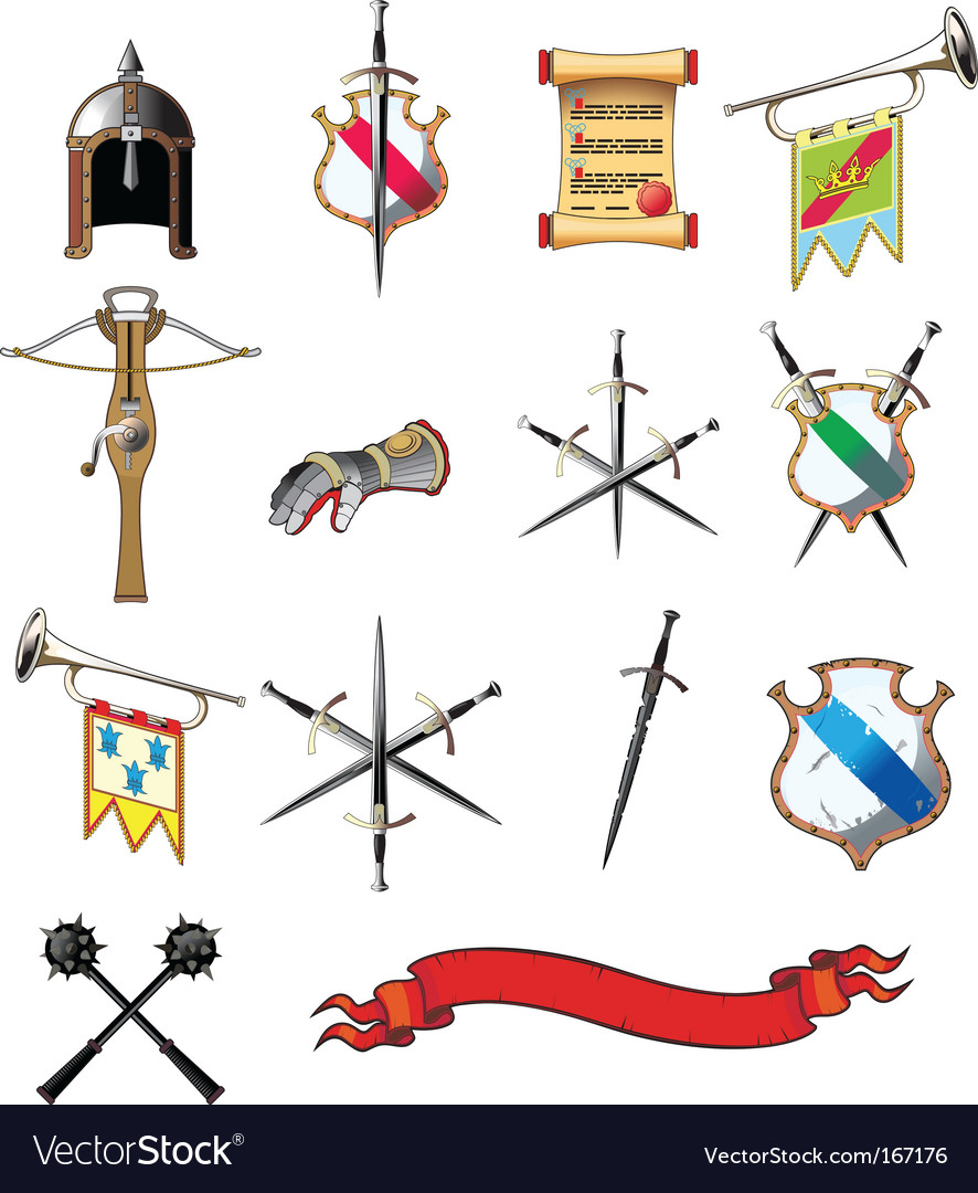 Medieval icons vector | Price: 1 Credit (USD $1)