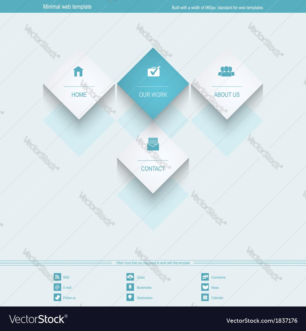 Minimal web template for corporate or portfolio vector | Price: 1 Credit (USD $1)