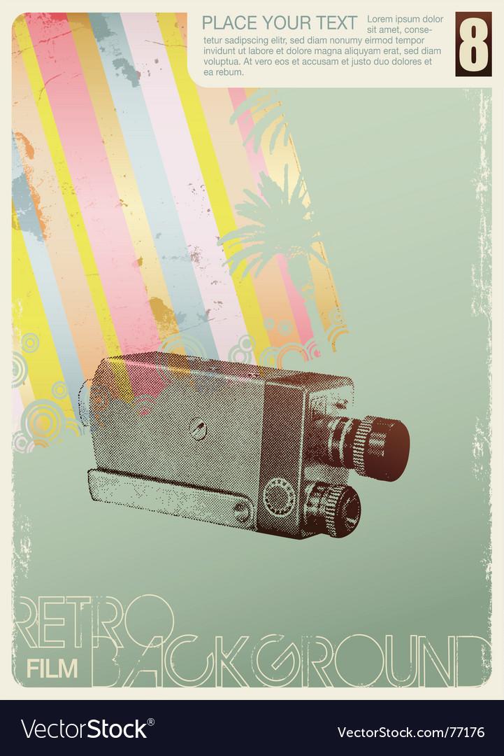 Movie background vector | Price: 1 Credit (USD $1)