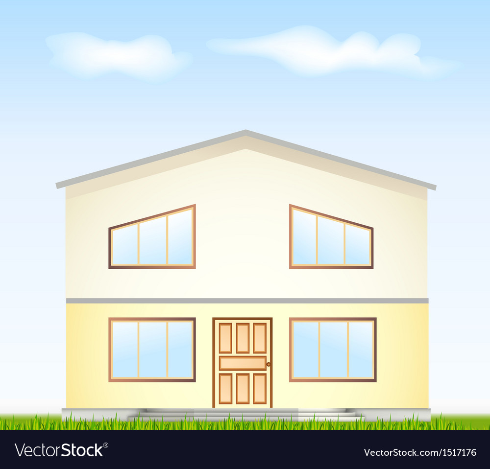 Real estate for sale facade vector | Price: 1 Credit (USD $1)