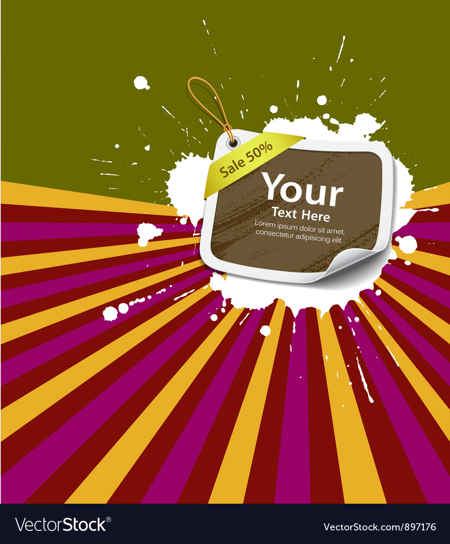 Sale price tag colorful background vector   Price: 1 Credit (USD $1)