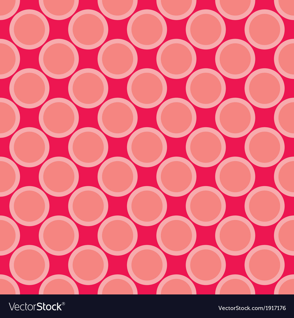 Seamless red pattern with big pastel pink dots vector   Price: 1 Credit (USD $1)