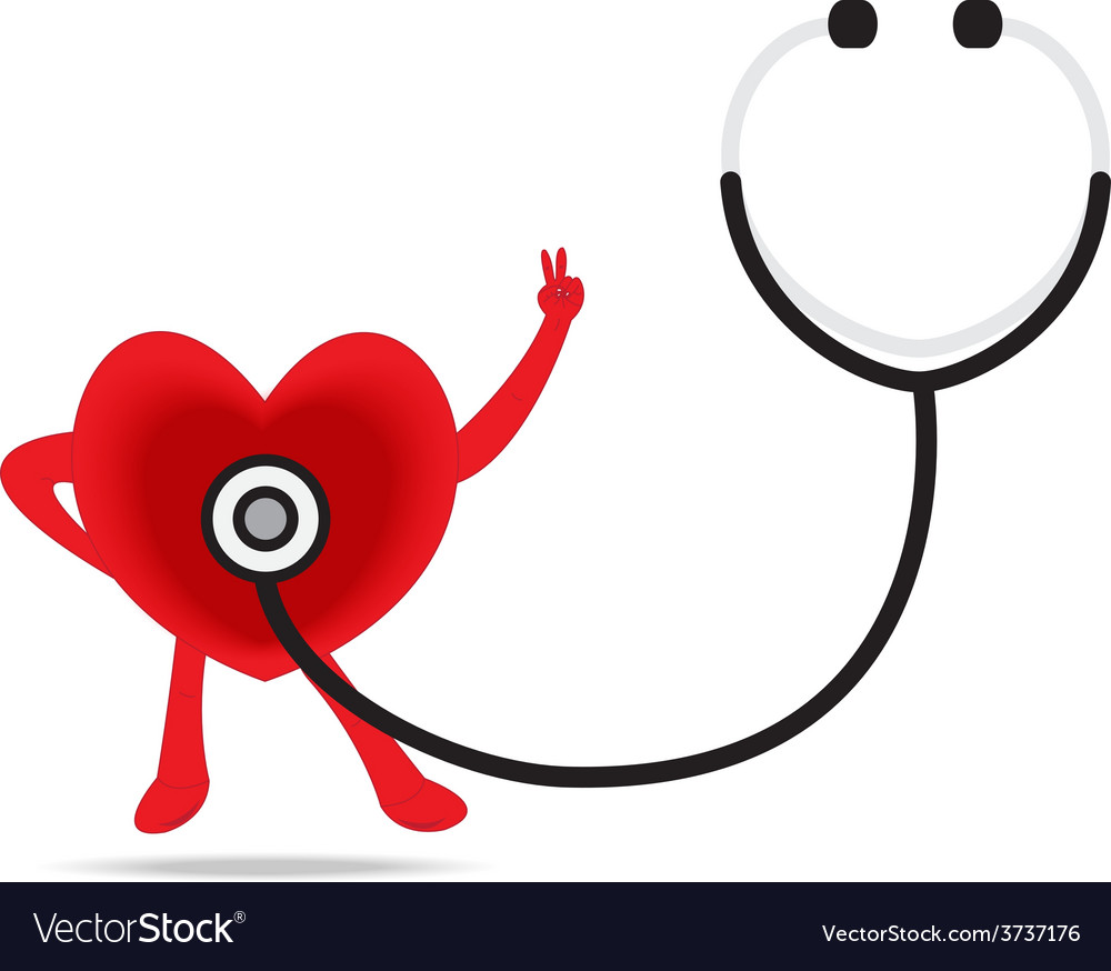 Stethoscope and a healthy heart vector   Price: 1 Credit (USD $1)