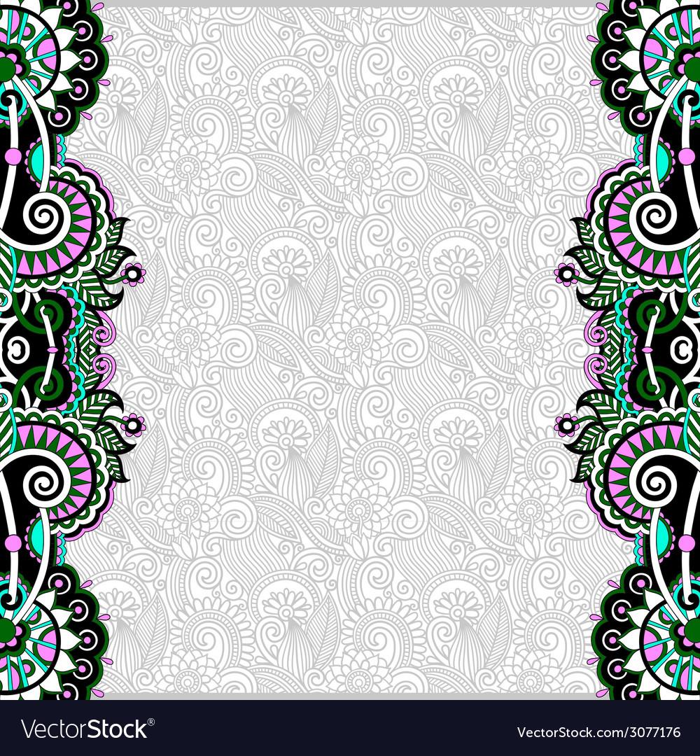 Vintage floral background for your design vector | Price: 1 Credit (USD $1)