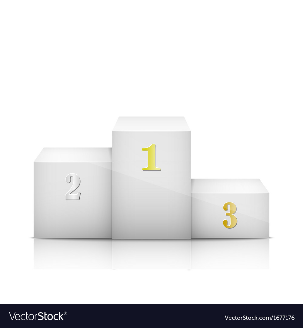 White olympic pedestal with numbers vector | Price: 1 Credit (USD $1)