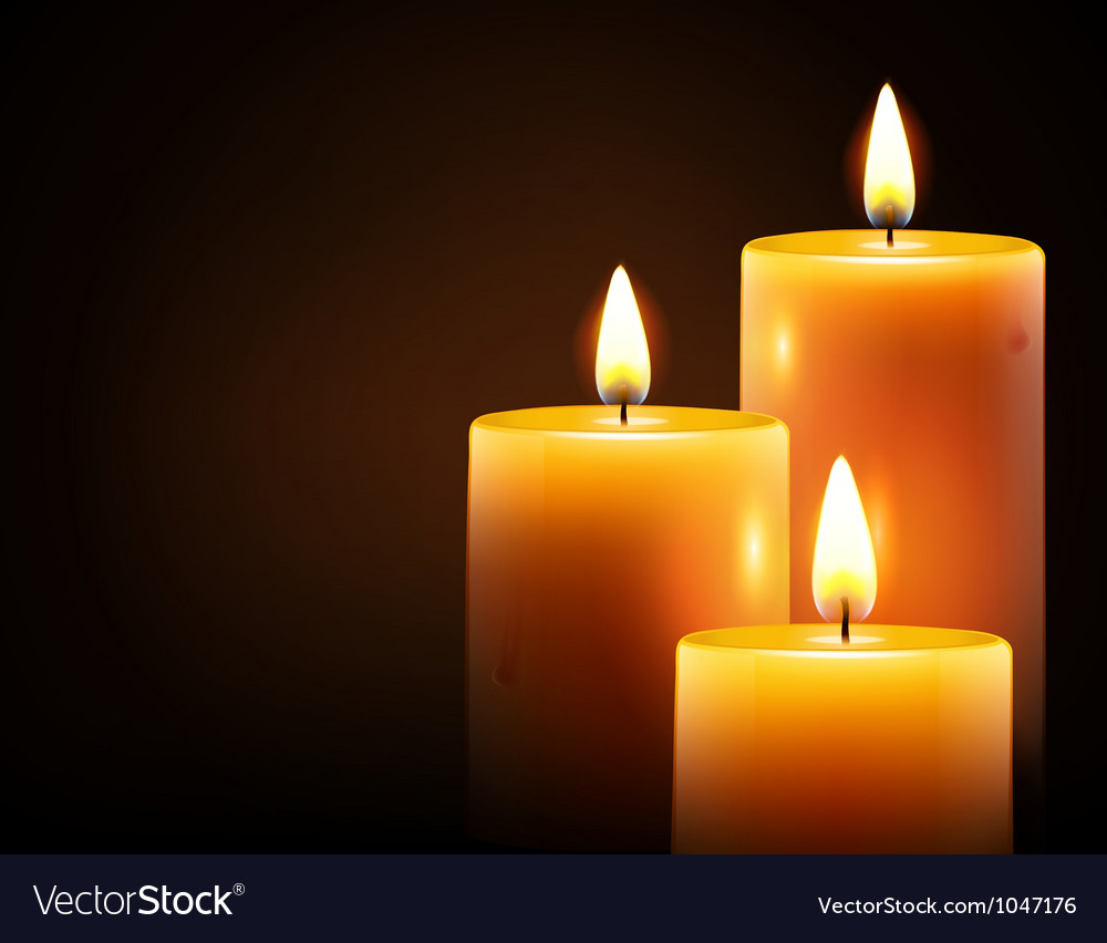 Yellow candles vector | Price: 3 Credit (USD $3)