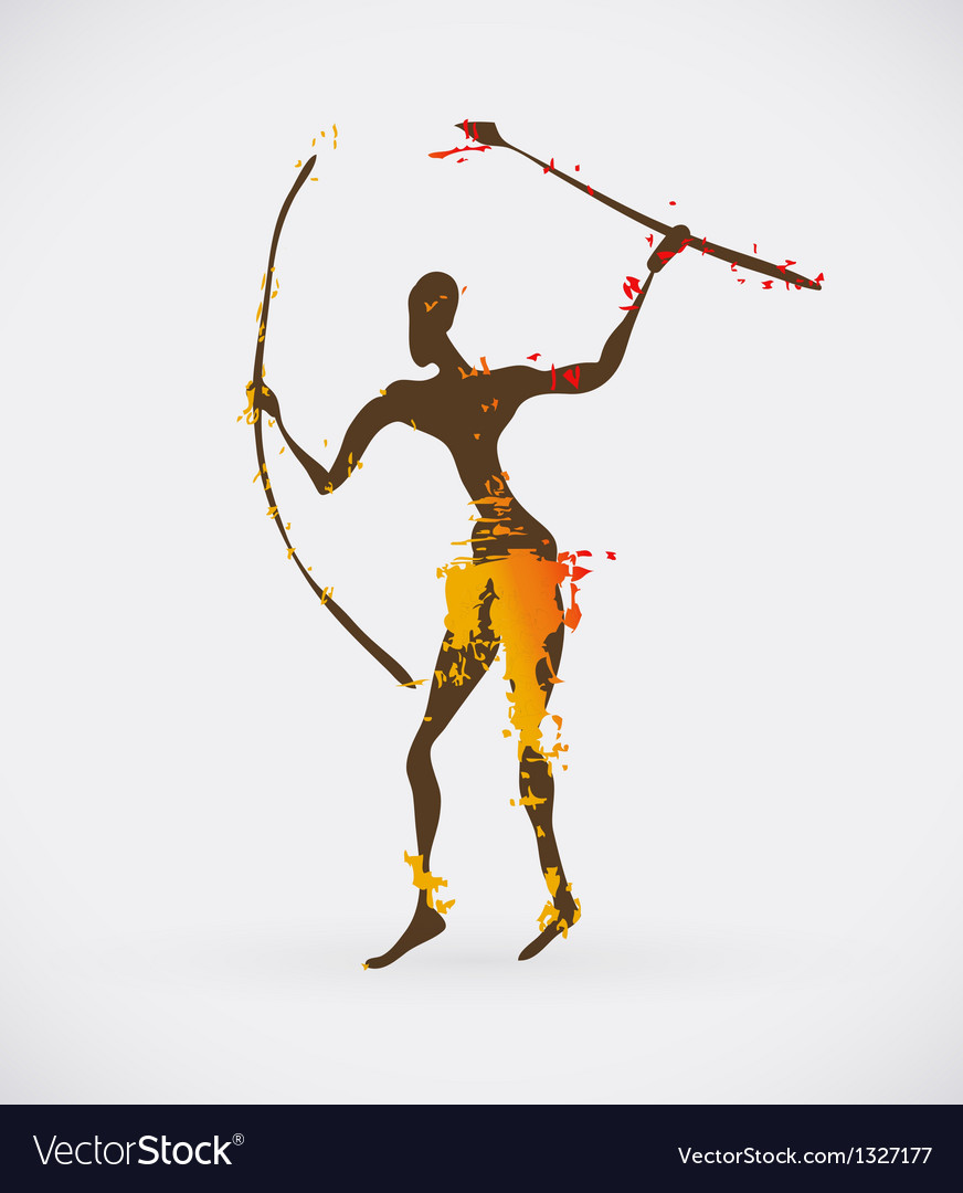 African hunter tribal vector | Price: 1 Credit (USD $1)