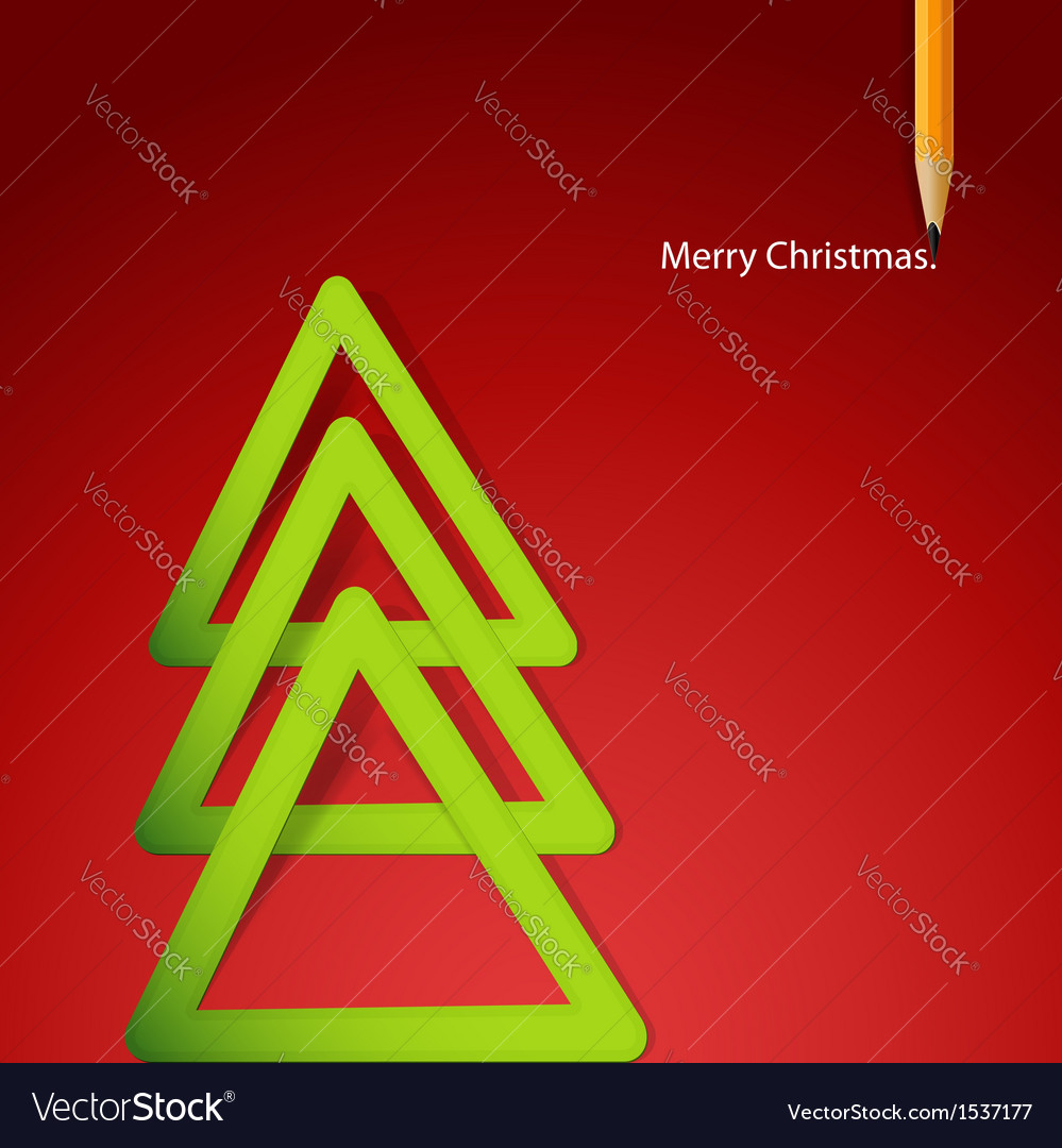Christmas triangular tree vector | Price: 1 Credit (USD $1)